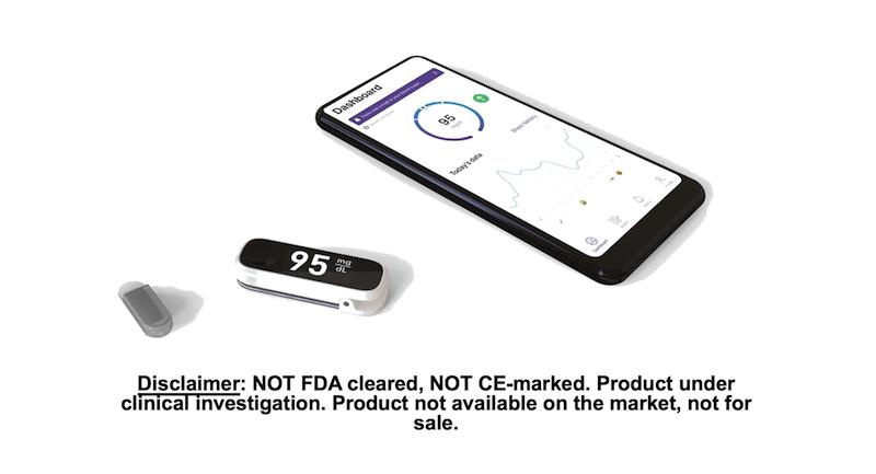 Indigo Diabetes Mock Up Sensor and app